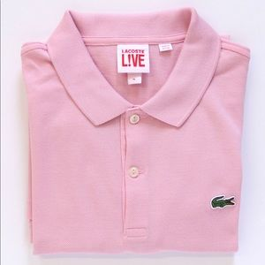 Lacoste Live Mens Pink Slim Fit Polo XL